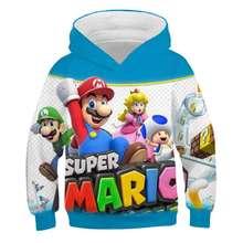 Kids Mario Bros Hoodie Fashion Casual Super 3D Boys Girls Cartoons Sweatshirts Tops Child Pullover Sportswear Gift for Children