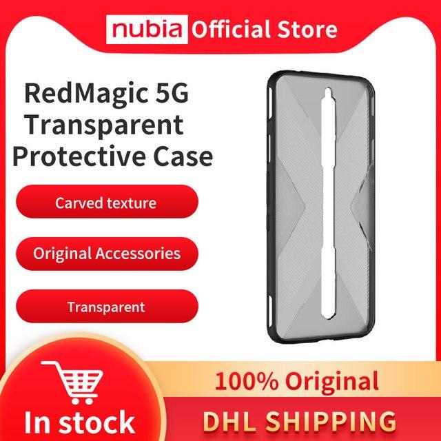 100% oryginalny nubia RedMagic 5G przezroczysty futerał ochronny Nubia Redmagic 5S