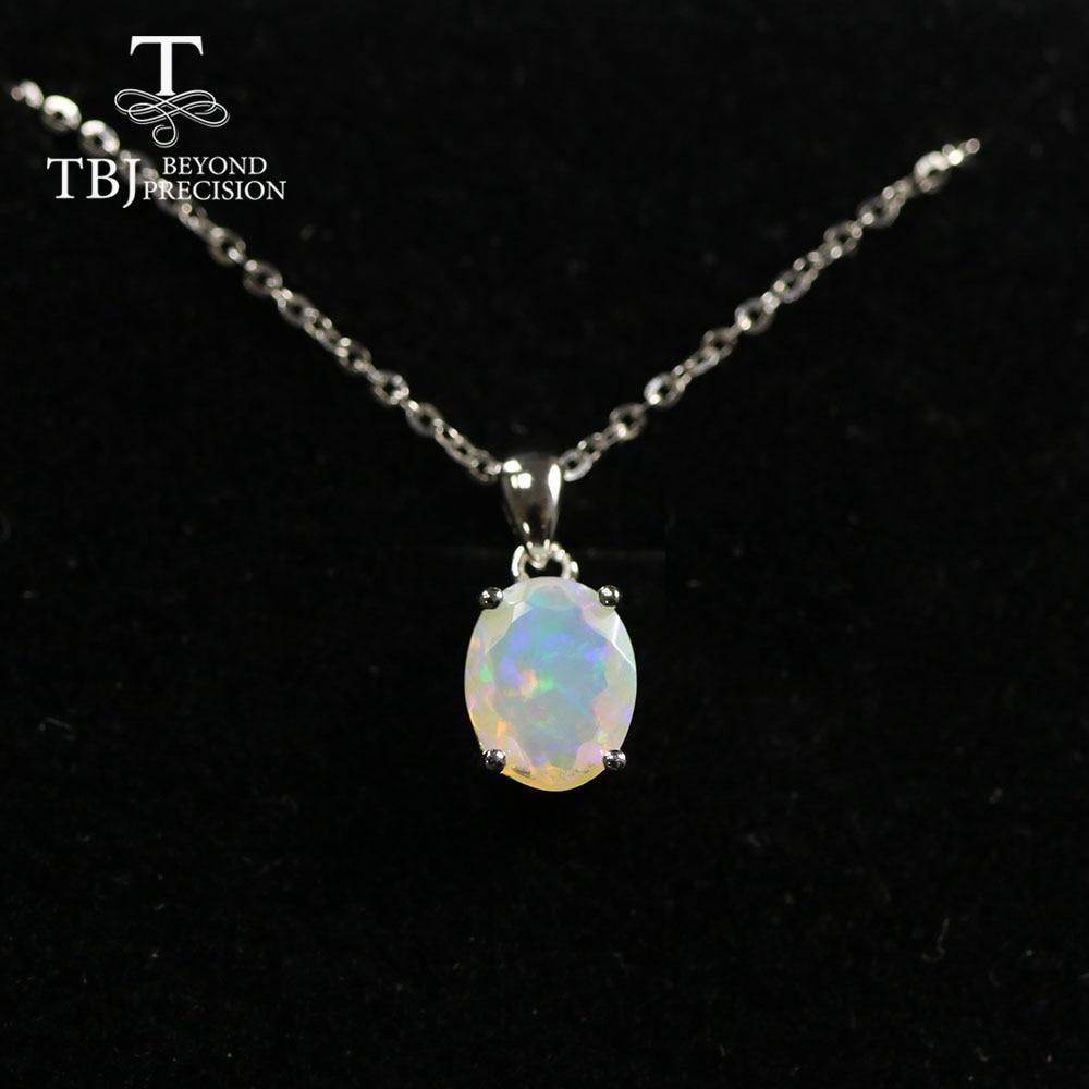 Multi ov 7*9mm Gemstone Pendant ,simple design black opal  neckalce aquamarine pendant labradorite pendant  925 sterling silver