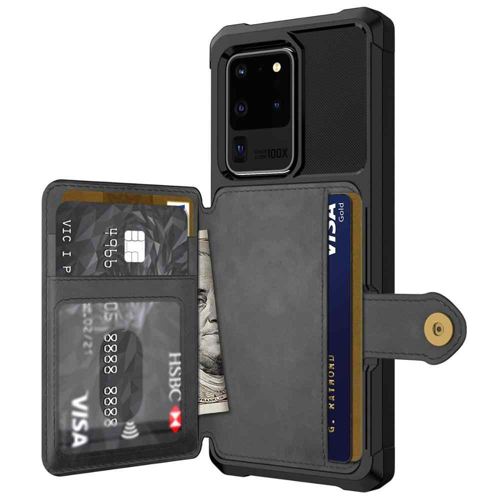 Card Holders Luxury Kickstand Wallet Cover for Samsung Galaxy S20 Ultra Leather Flip Case Fit for Samsung Galaxy S20 Ultra