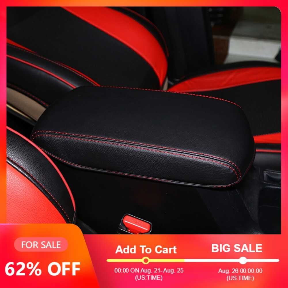Armrest Cover For Mazda CX5 2017 PU Leather Black Stitches