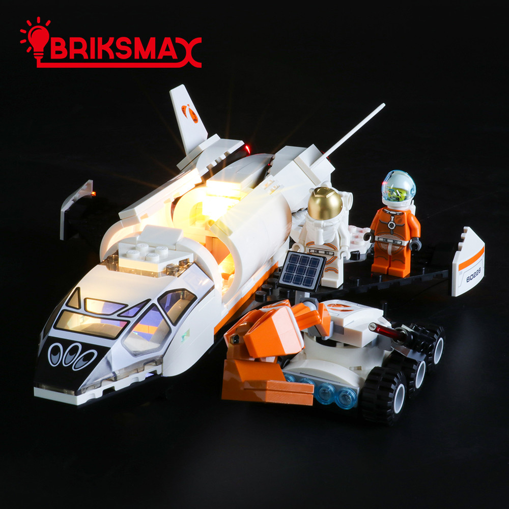 BriksMax Led Light Kit For CITY Series Mars Research Shuttle Toys Building Blocks Model Light Set Compatible With 60226