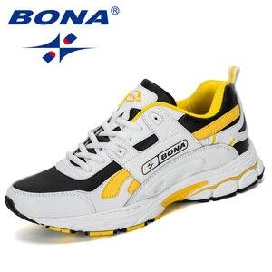 Image 4 - BONA  New Designer Men Cow Split Running Shoes Sports Outdoor Comfortable Man Sneakers Walking Athletic Footwear Trendy Shoe