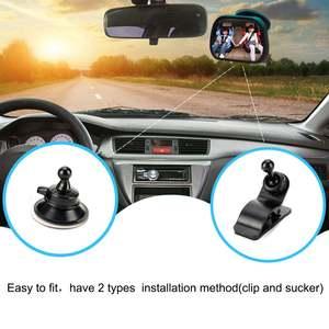 Mirror Headrest Tirol Monitor Facing Car-Back-Seat Square Adjustable Rear-Ward-View Safety
