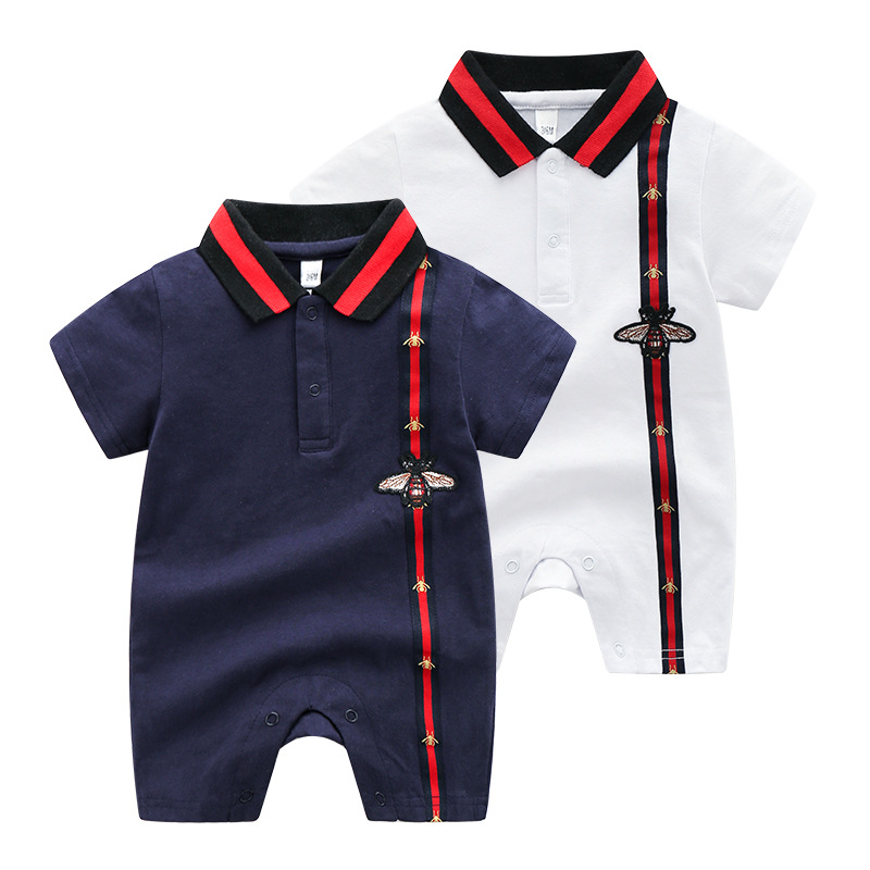 Summer Versitile Fashion Clothes For Babies Two-Year-Old Women's Cotton Baby Jumpsuit Summer Thin Short Sleeve Newborns Clothes