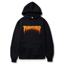 2021 Hot sale men women novelty Hoodies thrasher fashion anime print autumn Sweatshirts Hip hop thra hudi warm pull youth top