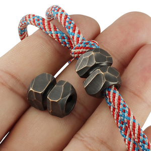 1pcs/lot Vintage Meteorites Brass Knife Beads Meteor Crater Beads Rope Pendant Vintage Copper Paracord Beads DIY(China)