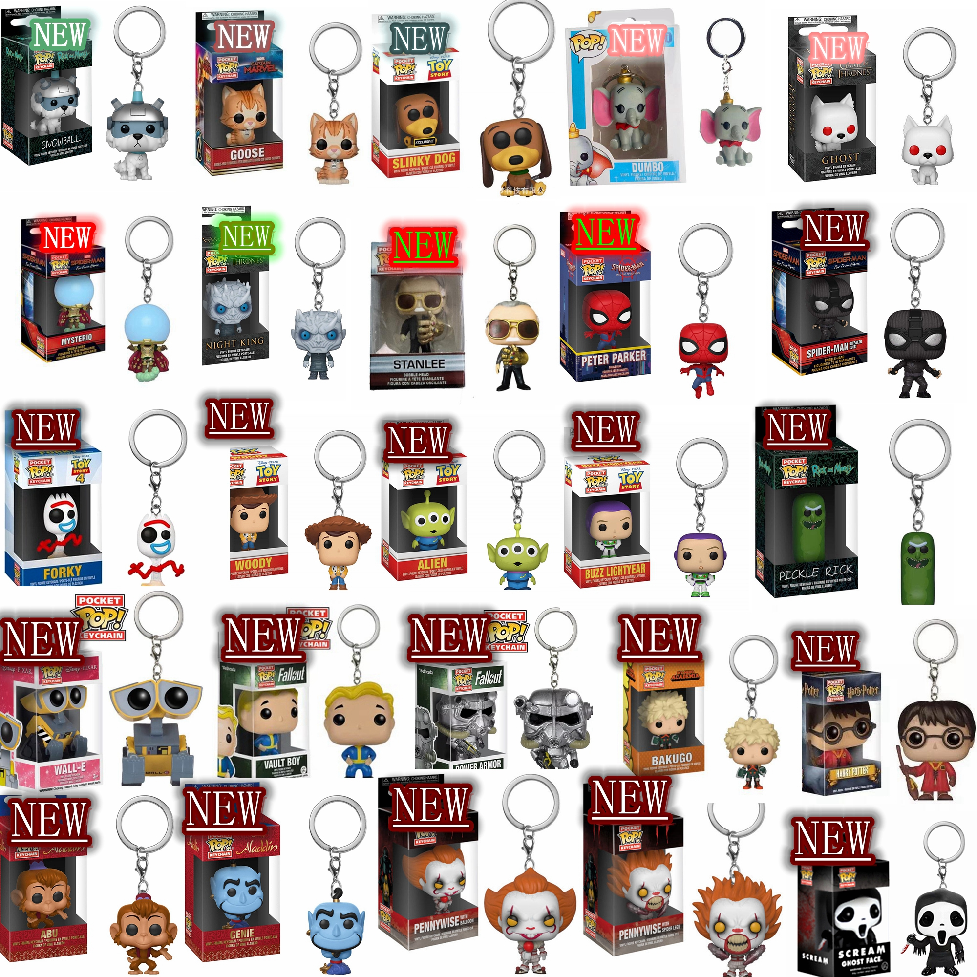 FUNKKO POP Harri Potter Toy Story Rick And Morty Game Of Thrones Dumbo Pennywise Scream Ghost Face Chucky Eve Toys With Box