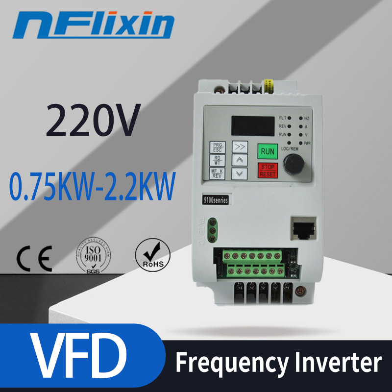 1-фазный вход и 3-фазный выходной преобразователь частоты для Европы/привод электродвигателя переменного тока/VSD/ VFD/ 50 Гц инвертор 220 В-кВт