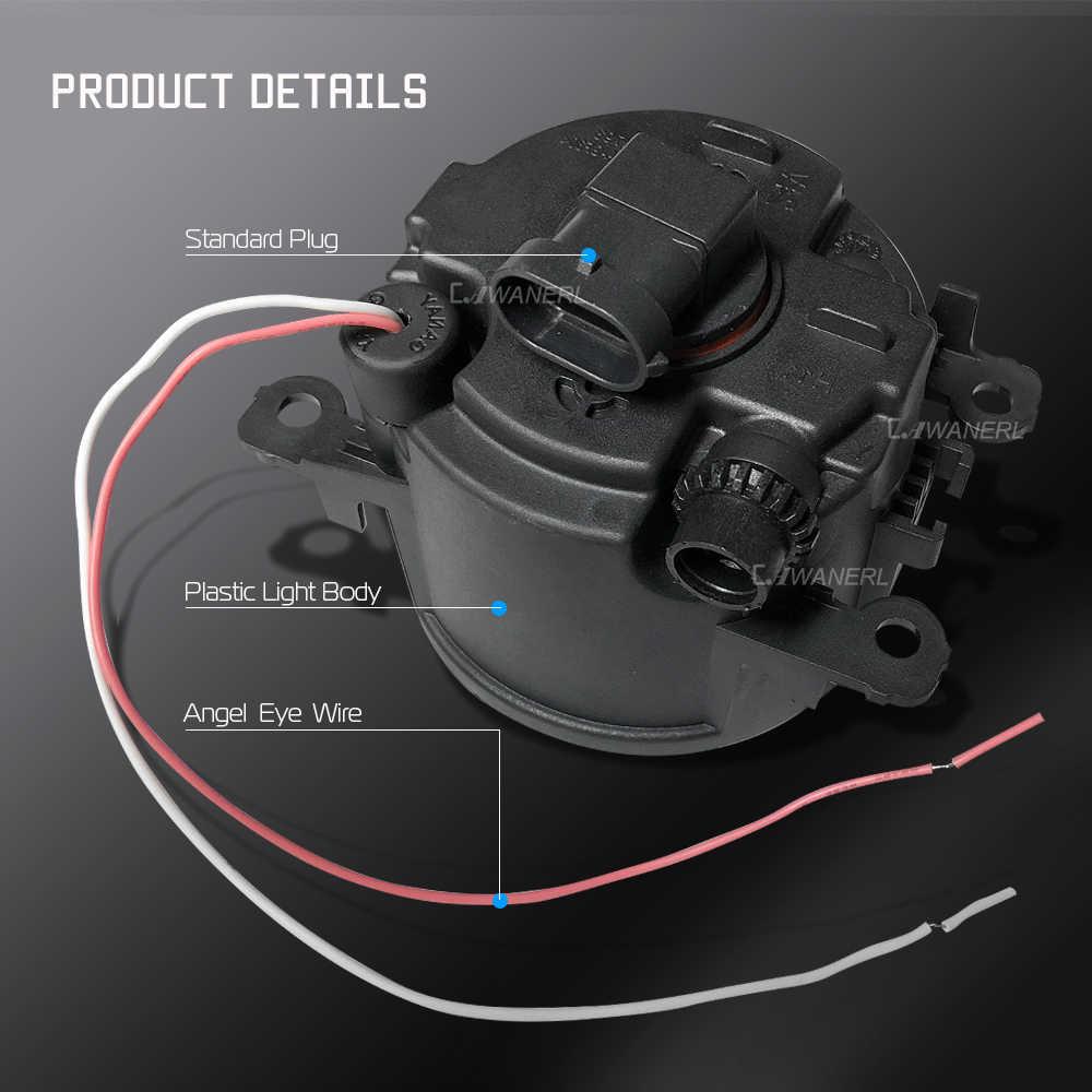 Cawanerl Peugeot 4007 için GP _ 2007-2013 araba 30W COB LED sis işık melek göz gündüz farı lambası DRL 3000LM 12V stil 2 adet