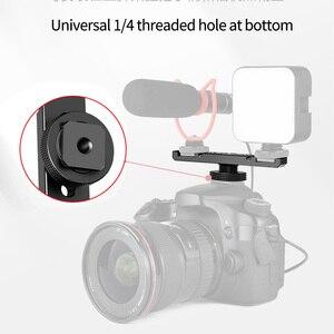 """Image 3 - Potrójny/podwójny zimny Adapter do butów 1/4 """"uchwyt na pasek rozszerzenia Vlogging uchwyt wideo na statyw lustrzanka cyfrowa lampka wypełniająca mikrofon"""
