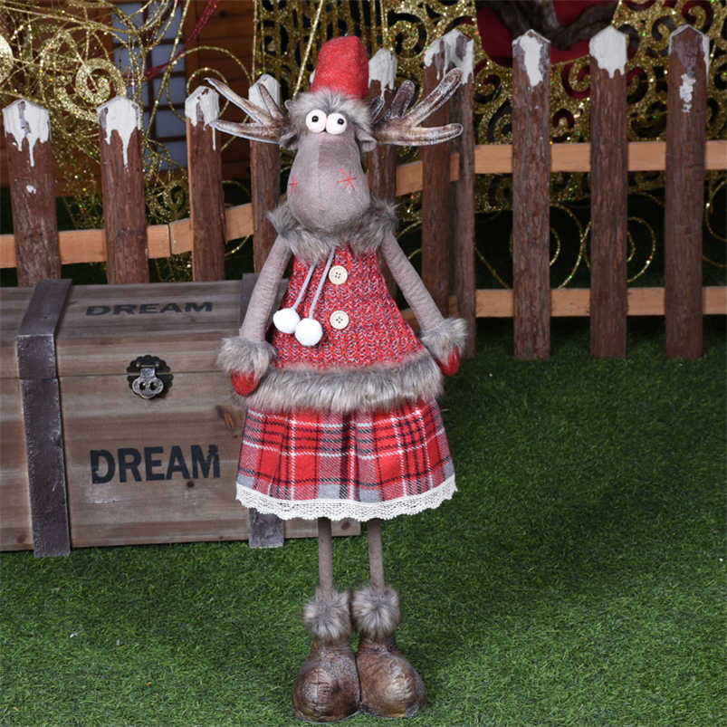 Lớn Có Thể Thu Vào Giáng Sinh Tuần Lộc Búp Bê Navidad Các Bức Tượng Nhỏ Quà Tặng Giáng Sinh Cho Bé Đỏ Trang Trí Giáng Sinh Quà Tặng Năm Mới