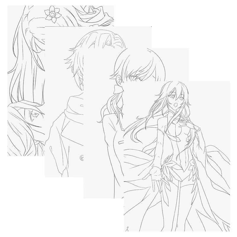 80g 24 Sayfa Anime Comic Suclu Tac Renkli Sanat Kroki Cocuk
