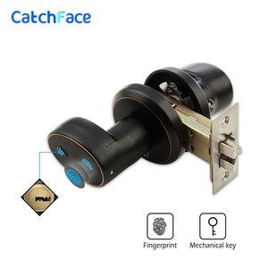Image 2 - Serrure de porte biométrique dempreinte digitale en alliage de Zinc serrure de porte de cylindre de sécurité serrure de porte étanche électronique en acier inoxydable