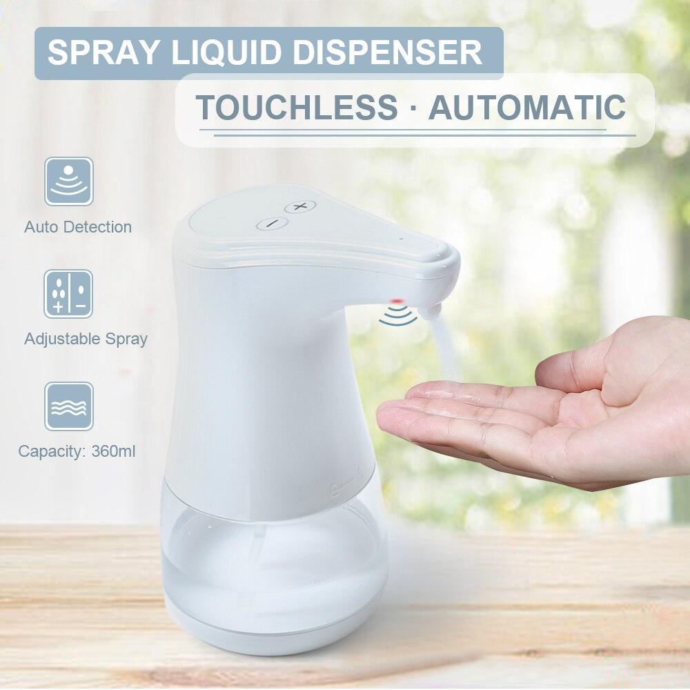 He4a19b4f3e6c435a87fc5c38a40208c7h Automatic Alcohol Spray Dispenser Touchless Alcohol Sanitizer Disinfectant Liquid Sope Dispensers IR Sensor Bottle for Bathroom