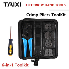 Wire-Crimp-Tool-Kit 4-in-1 Tool-Kit Copper-Nose-Terminal Copper-Tube-Terminal Ring-Spade-Terminal Crimp Hand Tools