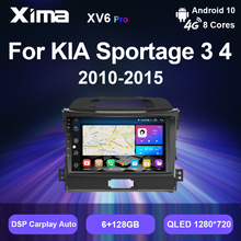 XIMA V6 Pro Android 10 Wifi DSP 2 Din Dvd Autoradio Carplay Navi Radio Đa Phương Tiện Video Cho Xe KIA sportage 3 2010  2016