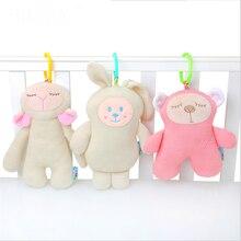Sevimli yaratıcı ses koyun ayı tavşan saç çizgisi konfor bebek dahili BB denilen örgü bebek bebek oyuncakları