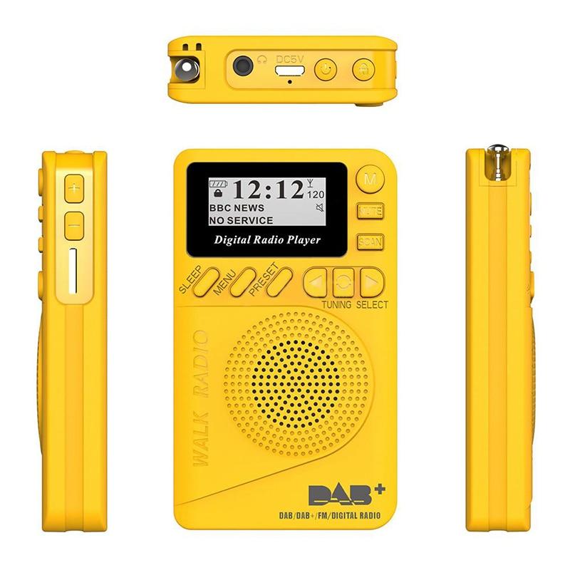 Новинка карманное портативное радио DAB + цифровое радио перезаряжаемая батарея FM-радио ЖК-дисплей ЕС разъем громкоговоритель для прямой пос...