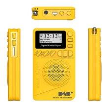 Novo bolso rádio portátil dab + rádio digital bateria recarregável rádio fm display lcd plug ue altifalante para o transporte da gota