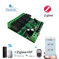 4CH Zigbee WiFi Switch Module Wireless Wireless 4 Relay Card EWelink APP Remote Control Smart Timer Smart Home Alexa Google Home