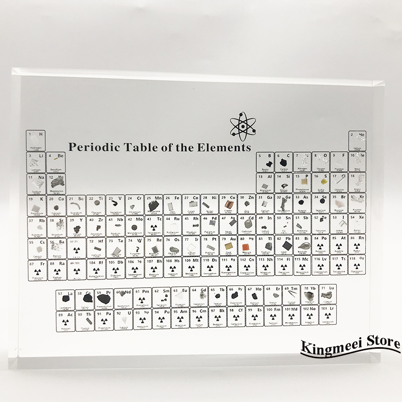 Large Stock Acrylic  Periodic Table  Chemical Periodic Table Acrylic Crystal Physical Periodic Table Gifts  Real Elements inside 4