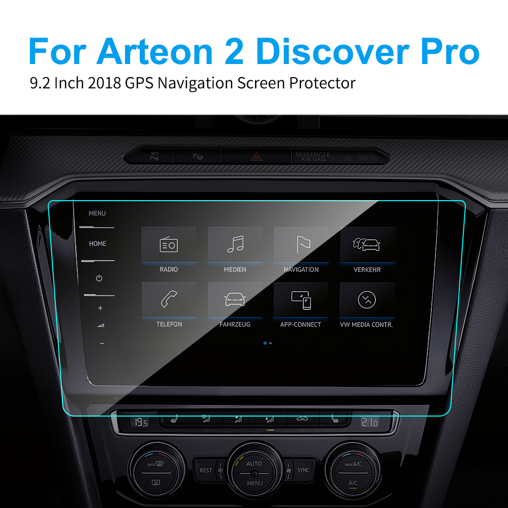 9.2 Inch TPU Car Screen Protector For Volkswagen VW Arteon 2 Discover Pro 2018 GPS Navigation Screen Protective Film Accessories