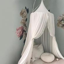 Высококачественная круглая москитная сетка в скандинавском стиле, украшение для детской комнаты, кровать для мальчиков и девочек, шифоновая москитная сетка, декор для комнаты принцессы