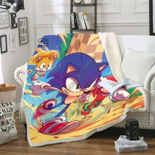 Anime Super Sonic Blanket Design Flannel Fleece Blanket Printed Children Warm Bed Throw Blanket Kids Blanket style-4