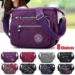 Venda quente bolsas femininas saco do mensageiro saco de pano à prova dwaterproof água boa qualidade diagonal saco de ombro e recolher carteira