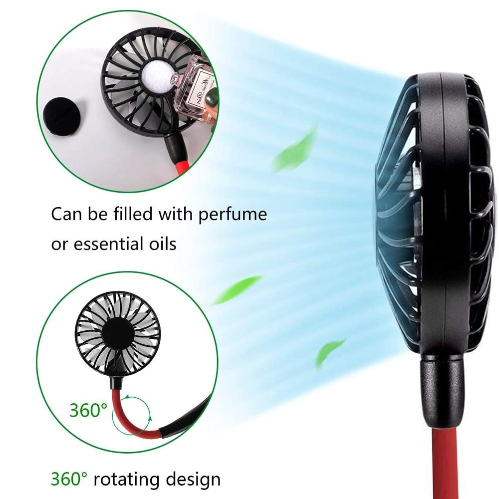 Air Cooling Fan Mini Desktop Fan USB Fan Battery Dual-use Round Fan Portable Snail Fan One Gear Wind Color : Light Blue