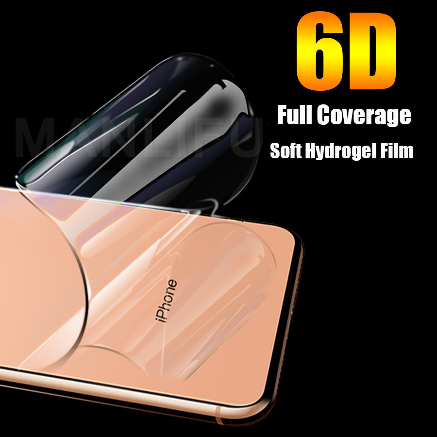6D Soft Hydrogel Silicone TPU Film For apple iPhone 11 Pro XS Max XR iphone X 7 8 Plus Screen Protector Protective Hydrogel Film