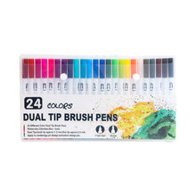 12-120 Color Dual Brush Art Marker Pens Fine Tip and Brush Tip Great for Adult Coloring Books Calligraphy Lettering Art Supplies