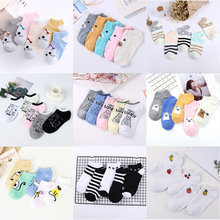5pair/lot Candy Colors Women Ankle Socks Funny Cute Solid Color Plush Boat