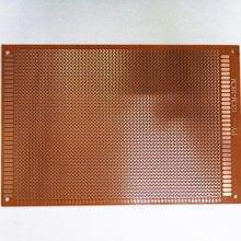 5 sztuk 12x18 12*18cm jednostronnie prototypowa płytka drukowana tablica uniwersalna eksperymentalna bakelitowa miedziana taca Circuirt Board żółty