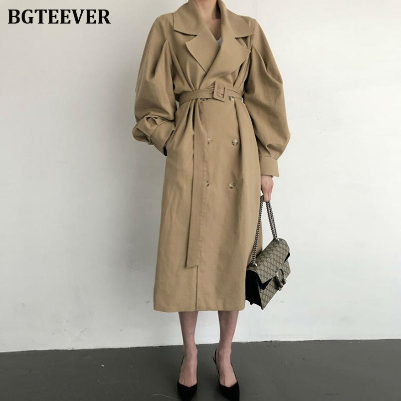 Autumn Winter Streetwear Luxury Ladies Double-breasted Long   Trench   Coats Women Classic Oversized Women Raincoat Outerwear 2019