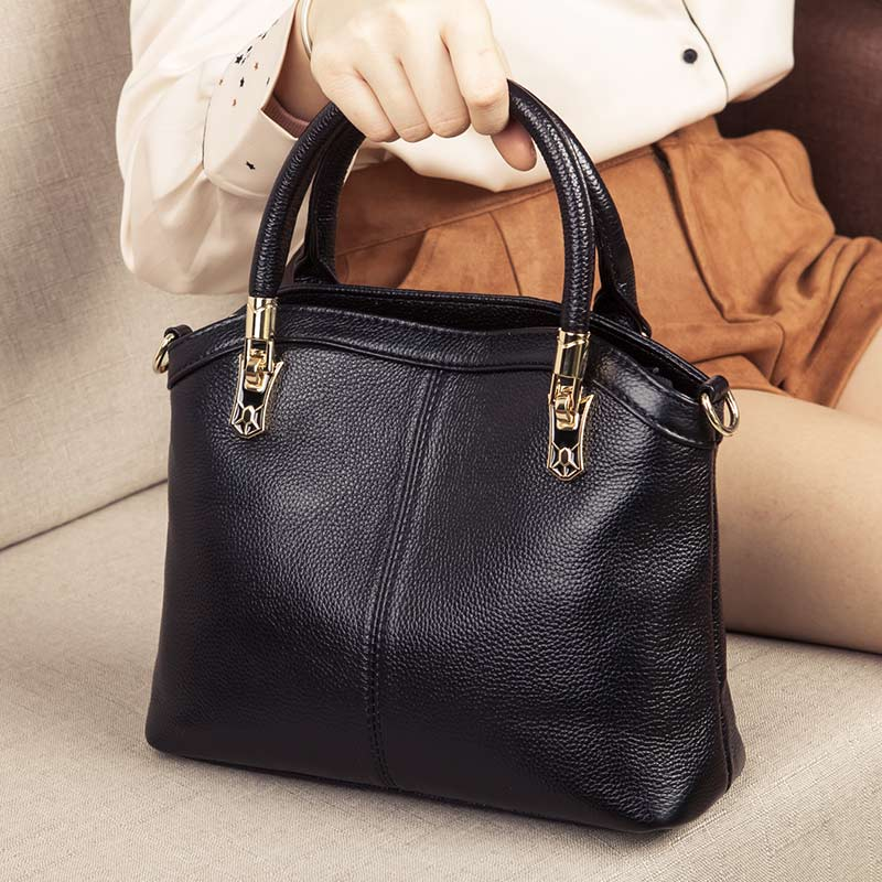 Genuine Leather Women's Bag Fashion Small Crossbody Bags For Women Shoulder Messenger Bag Luxury Top-Handbag Female Purse Tote
