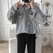 Autumn New Social Men Shirt Fashion Business Casual Plaid Man Streetwear Wild Loose Long-sleeved Shirts S-2XL