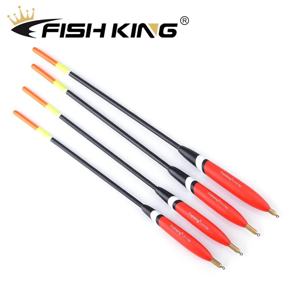 FISH KING 4pcs/pack Barguzinsky Fir Float 1.2+2.0g/1.5+1.5g/2.0+2.0g/2.5+3.0g Balsa Bobber Cork Vertiacl Buoy Carp Fishing Float