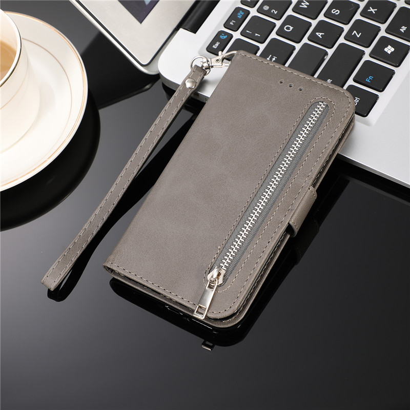 He4a31d5ff86e4c7fba6a905c4a08e97cs Leather Zipper 8plus Flip Wallet Case For iPhone 11 Pro X XS MAX XR 6 6s 7 8 Plus Card Holder Stand Phone Cover Coque Etui Mujer