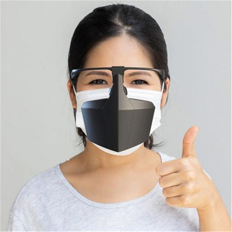 Face Mask Breathable Reusable Protective Cover Isolation Shield Plastic Protective Mask Against Droplets Anti-fog Isolation