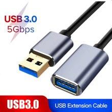 Cabo de extensão usb cabo de extensão usb 3.0 extensor para tv de teclado ps4 xbo um ssd usb3.0 para extender cabo de dados mini cabo de extensão usb