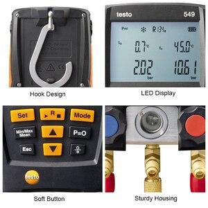 Image 4 - Manifold Digital Mastercool Testo 549 Digital Manifold HVAC Gauge System Kit R410a R410 Refrigeration And Air Conditioning Tools