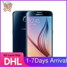Восстановленный Оригинальный разблокированный смартфон Samsung S6 G920V G920P G920A G920F 4G LTE, камера 16 МП, 32 Гб ПЗУ, Восьмиядерный, экран 5,1 дюйма