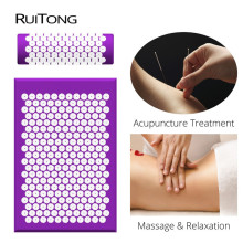 Yoga Mat Acupuncture Massage Mat Acupuncture Pad Exercise Mat Pillow Body Massage Pad Relieve Low Back Pain Acupuncture Comfort