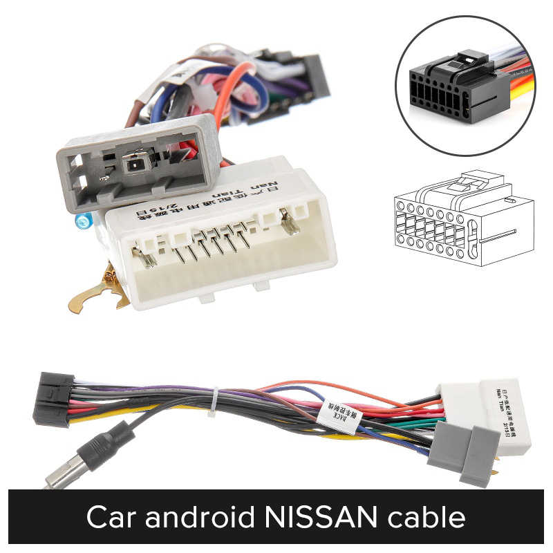 2 Din Auto Android Radio Kabel Voor Suzuki Buick Voor Vw Iso Hyundai Voor Kia Honda Toyota Nissan Mitsubish Ik ford Crv Fit Outlande