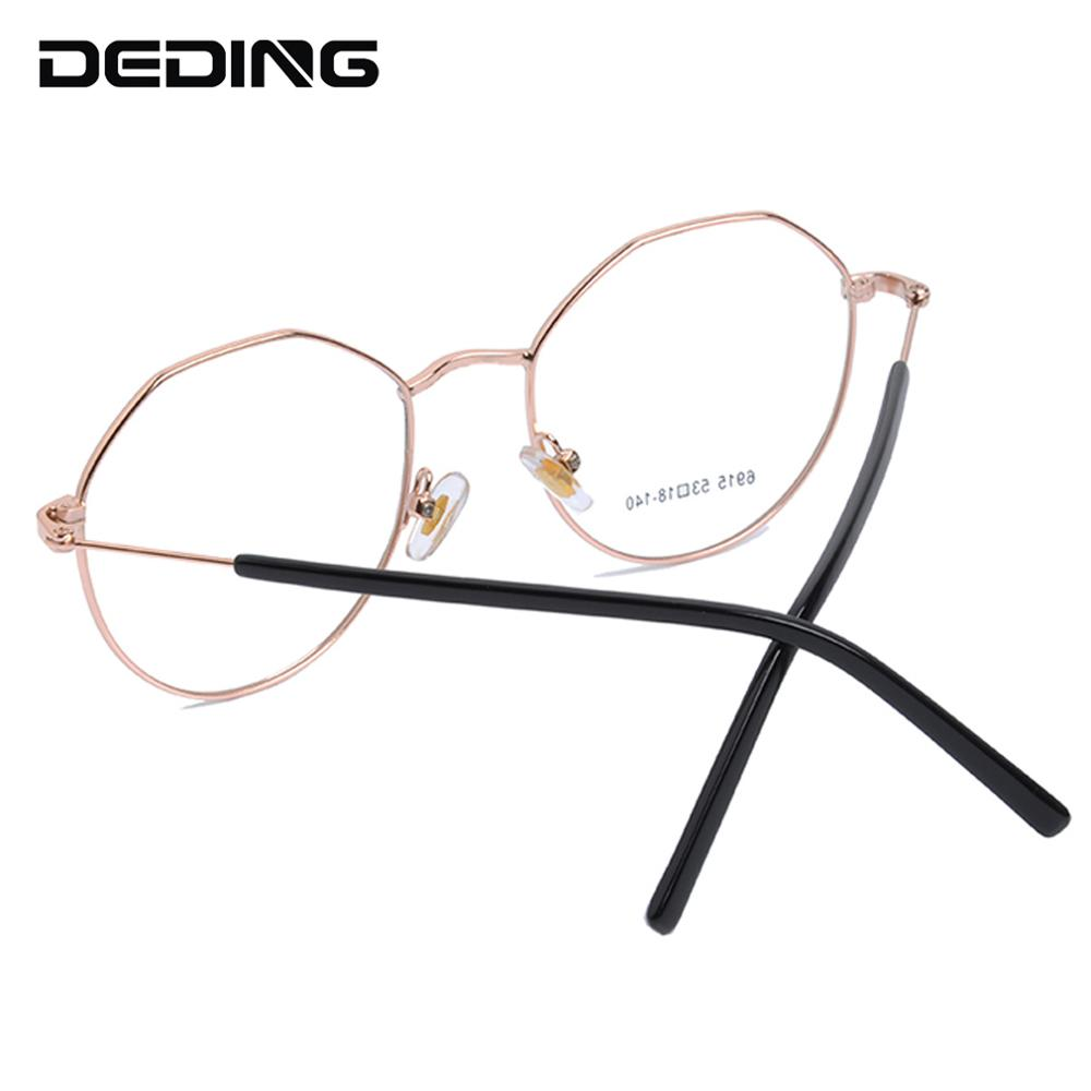 Alloy Glasses Frame Women Polygon Retro Eyeglasses Prescription Men Myopia Optical Frame Eyewear DD1531 in Men 39 s Eyewear Frames from Apparel Accessories