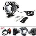 Мотоцикл 12V светодиодные фары U5 Светодиодный прожектор мото свет мотоцикл вспомогательная лампа Противотуманные фары запчасти универсаль...