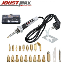 Jostmax 30W electric soldering iron 220V temperature adjustable mini pen holding convenient welding tool set tools mini rapid