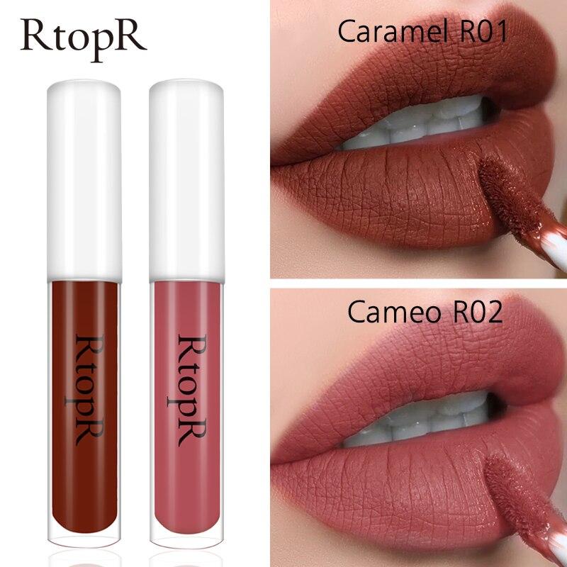 RtopR Lip Makeup Non-stick Cup Lipstick Lip Gloss Lasting Moisturizing Cosmetic Lipstick Lip Gloss Matte Lip Glaze Waterproof(China)